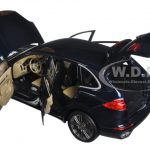 2014 Porsche Cayenne Turbo S Blue Metallic Limited Edition to 504pcs 1/18 Diecast Model Car by Minichamps
