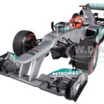 Mercedes AMG Petronas F1 Team F1 W03 Michael Schumacher Monaco GP 2012 Limited to 1002 Pieces 1/18 Diecast Model Car by Minichamps