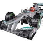 Mercedes AMG Petronas F1 Team F1 W03 Michael Schumacher Last Race Brazil GP 2012 Limited to 1440pc 1/18 Diecast Model Car by Minichamps