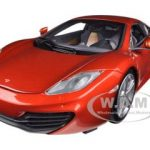 2011 Mclaren MP4-12C Metallic Orange 1/18 Diecast Car Model by Minichamps