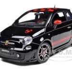 2008 Fiat 500 Abarth  Black 1/18 Diecast Model Car by Bburago