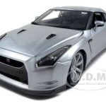 2009 Nissan GT-R R35 Silver 1/18 Diecast Model Car by Bburago