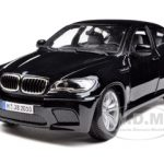 2011 2012 BMW X6M Black 1/18 Diecast Car Model by Bburago