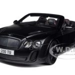 Bentley Continental Supersports Convertible Matt Black 1/18 Diecast Car Model by Bburago