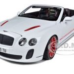 2012 2013 Bentley Continental Supersports ISR Convertible White 1/18 Diecast Model Car by Bburago