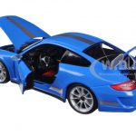 Porsche 911 GT3 RS 4.0 Blue 1/18 Diecast Car Model by Bburago