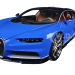 2016 Bugatti Chiron Blue 1/18 Diecast Model Car by Bburago