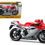 2012 MV Agusta F4 Red/Silver Bike 1/12 Motorcycle Model by Maisto