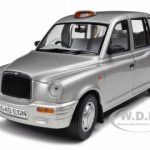 1998 TX1 London Taxi Cab Platinum Silver 1/18 Diecast Model Car by Sunstar
