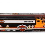 Harley Davidson Custom Hauler Trailer Orange 1/64 Diecast Model by Maisto