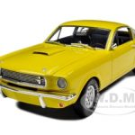 1966 Shelby Mustang GT 350 Fastback Yellow 1/18 Diecast Car Model by Shelby Collectibles