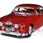 1959 Jaguar Mark II Red 1/18 Diecast Car Model by Bburago