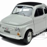 1965 Fiat 500 F White 1/18 Diecast Model Car by Bburago