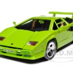 Lamborghini Countach 5000 Green 1/18 Diecast Model Car by Bburago