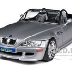 BMW Z3 M Roadster Silver 1/18 Diecast Car Model by Bburago