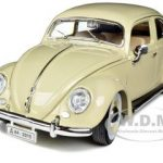 1955 Volkswagen Beetle Kafer Beige 1/18 Diecast Car Model by Bburago