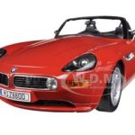 BMW Z8 Red 1/18 Diecast Car Model by Bburago