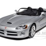 2003 Dodge Viper SRT-10 Silver 1/18 Diecast Model Car by Bburago