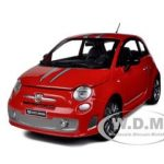 Fiat Abarth 695 Ferrari Tribute Red 1/24 Diecast Model Car by Mondo Motors