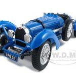 1934 Bugatti Type 59 Blue 1/18 Diecast Model Car by Bburago