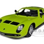 1968 Lamborghini Miura Green 1/18 Diecast Car Model by Bburago