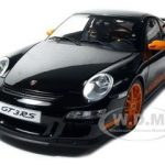 Porsche 911 (997) GT3 RS Black 1/12 Diecast Model Car by Autoart