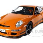 Porsche 911 (997) GT3 RS Orange 1/12 Diecast Model Car by Autoart