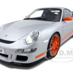 Porsche 911 (997) GT3 RS  Silver 1/12 Diecast Model Car by Autoart