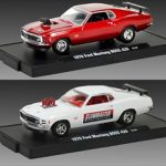 1970 Ford Mustang Boss 429 2pc Car Set Drivers Release 18B WITH CASES 1/64 Diecast Model Cars by M2 Machines