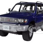 1998 Mitsubishi Pajero Long 3.5 V6 Royal Blue Pearl 1/18 Diecast Car Model by Sunstar