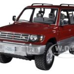 1998 Mitsubishi Pajero Long 3.5 V6 Burgundy 1/18 Diecast Car Model by Sunstar