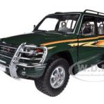 1998 Mitsubishi Pajero Long 3.5 V6 With Bush Guard Dark Green 1/18 Diecast Model Car by Sunstar