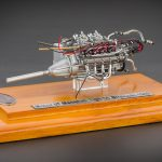 1960 Maserati Tipo 61 Birdcage Engine with Display Showcase 1/18 Diecast Model by CMC