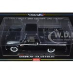 1965 Ford F-100 Pickup Truck Custom Cab Raven Black 1/18 Diecast Model by Sunstar