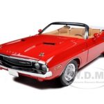 1970 Dodge Challenger R/T Convertible Rallye Red 1/18 Diecast Car Model by Greenlight