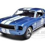 1968 Ford Mustang T/A #22 Bill Maier Racing Tribute Edition 1/18 Diecast Car Model by Greenlight