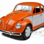 1967 Volkswagen Beetle Orange/White 1/18 Diecast Model Car by Greenlight