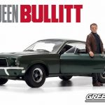 1968 Ford Mustang GT Fastback Bullitt Highland Green with Steve Mcqueen Figure 1/18 Diecast Car Model by Greenlight