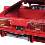 1978 Ford Mustang II Cobra II Free Wheelin Red with White Stripes 1/18 Diecast Model Car by Greenlight
