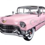 1955 Pink Cadillac Fleetwood Series 60 Special Elvis Presley 1/18 Diecast Model Car by Greenlight