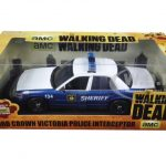 Rick and Shanes 2001 Ford Crown Victoria Police Interceptor The Walking Dead (2010-2015 TV Series) 1/18 Diecast Model Car by Greenlight