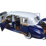 1941 Packard Super Eight One-Eighty Silver French Gray Metallic Duco and Barola Blue 1/18 Diecast Model Car by Greenlight
