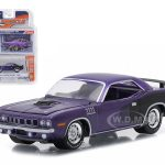 1971 Plymouth HEMI Cuda In Violet 1/64 Diecast Model Car by Greenlight