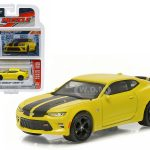 2016 Chevrolet Camaro SS Bright Yellow 1/64 Diecast Model Car by Greenlight