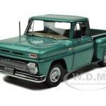 1965 Chevrolet C-10 Pickup Stepside Turquoise 1/18 Diecast Car Model by Sunstar