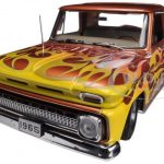 1965 Chevrolet C-10 Stepside Pickup Truck Metallic Orange 1/18 Diecast Car Model by Sunstar