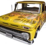 1965 Chevrolet C-10 Stepside Pickup Truck Metallic Gold 1/18 Diecast Car Model by Sunstar