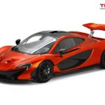 2013 Mclaren P1 Volcano Orange Limited to 300pcs 1/12 Model Car by True Scale Miniatures