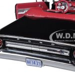 1964 Ford Galaxie 500 Open Convertible Raven Black 1/18 Diecast Model Car by Sunstar