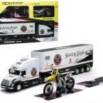 Volvo VN-780 1/32 scale with 1/12 scale Suzuki RM-Z 450 #94 Ken Roczen Set by New Ray